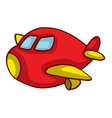 Cartoon red plane for kids design vector image