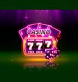casino neon cover vector image vector image