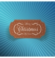 Christmas realistic cardboard Label vector image vector image