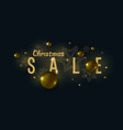 christmas sale poster gold balls on background vector image