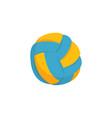 colorful beach volleyball ball icon isolated on vector image vector image