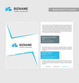 company brochure with elegent design with vector image