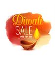 creative diwali festival sale banner design vector image vector image