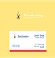 drink bottle logo design with business card vector image vector image