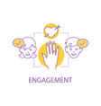 engagement concept icon vector image vector image