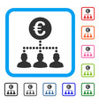 euro payment clients framed icon vector image vector image