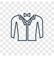 fashion concept linear icon isolated on vector image