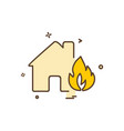 Fire house icon design