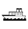 fishing ship isolated vector image vector image