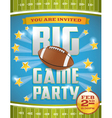Football Game Invitation Flyer vector image