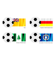 Football with Niue Ossetia Alania Norfolk Flag vector image vector image