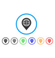 globe map marker rounded icon vector image