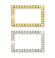gold and silver picture frames vector image vector image