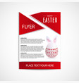 Happy easter day flyer template eps file