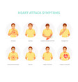 heart attack symptoms vector image vector image