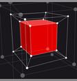 hypercube 3d object vector image