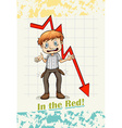 Idiom in the red vector image vector image