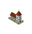 isolated church isometric chapel element vector image vector image