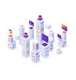 isometric megalopolis infographic city buildings vector image vector image