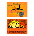 jack-o-lantern and evil on halloween party backgro vector image vector image