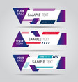 lower third white and colorful design template vector image vector image