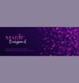 magic abstract long banner shiny glitter vector image