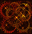 metallic stars and rings in bronze shades on a vector image