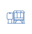 mini gas station line icon concept mini gas vector image