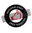 national debt rubber stamp vector image vector image