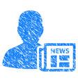 newsmaker newspaper grunge icon vector image