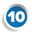 Number ten icon vector image vector image