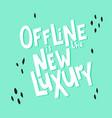 offline lettering-02 vector image