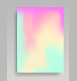 pastel colored gradient background vector image vector image