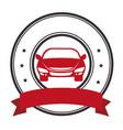 rent a car service icon vector image