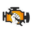 repair car engine vector image vector image