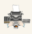 retro type writer machine vector image