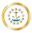 rhode island flag button vector image