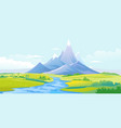 river valley in mountains vector image vector image