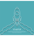 Rocket Launch - Startup Concept vector image vector image