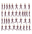 running man businessman fast running keyframe vector image