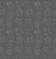 seamless pattern with medieval helmets on a gray vector image
