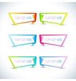 Set of colorful horizontal banners with place for vector image
