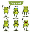 set of cute frog characters set 5 vector image vector image