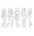 set of female figures vector image