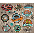 Set of premium quality vintage labels vector