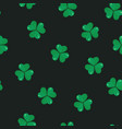 shamrock seamless pattern vector image