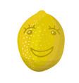 smily happy lemon positive emotions joyful satis vector image
