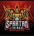spartan esport mascot logo design vector image