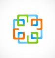 square decorative construction logo vector image