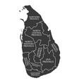 sri lanka map labelled black vector image
